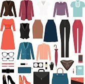 Businesswoman clothes and accessories