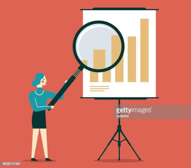 Businesswoman Examining Financial Data