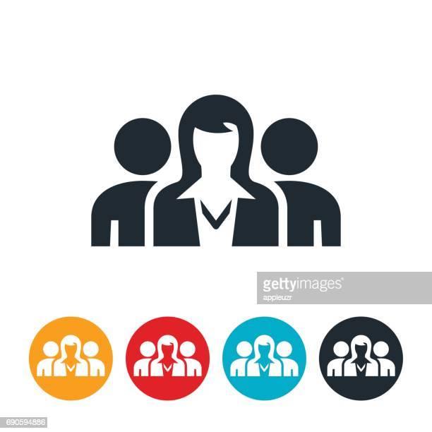 Businesswoman Leader Icon