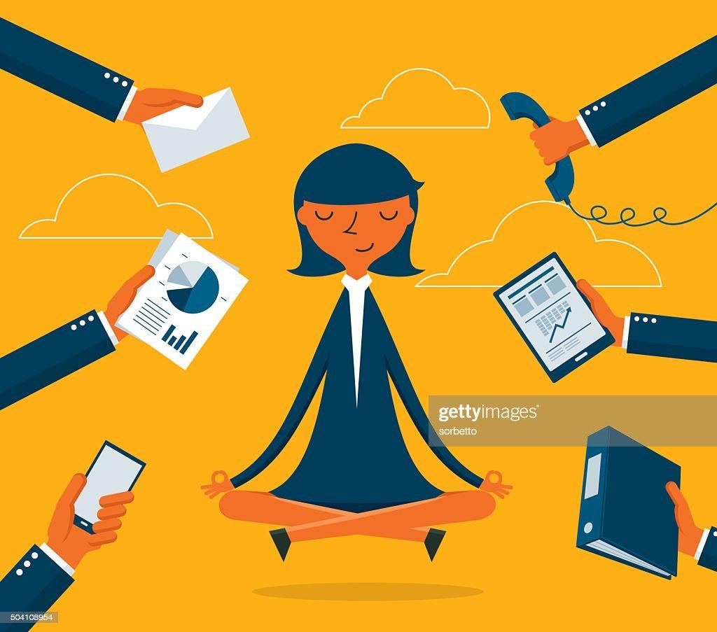 Businesswoman Meditation