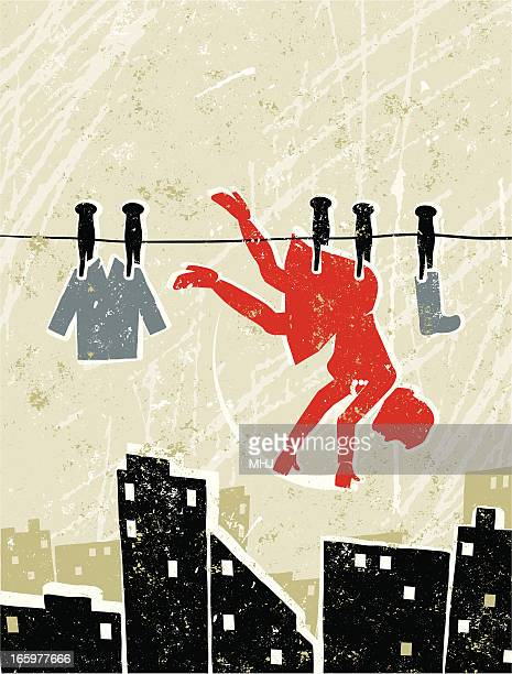 Businesswoman on a Washing Line