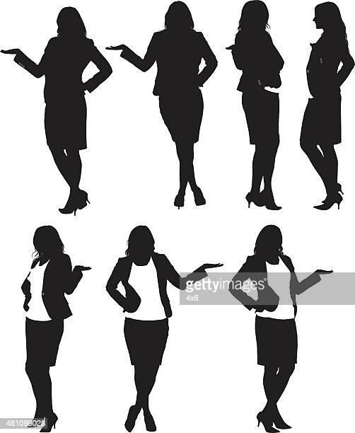–ビジネスウーマン - スタジオ撮影点のイラスト素材/クリップアート素材/マンガ素材/アイコン素材