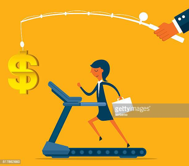 businesswoman running - rod stock illustrations, clip art, cartoons, & icons