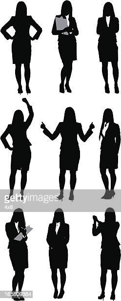 Businesswoman standing in different poses
