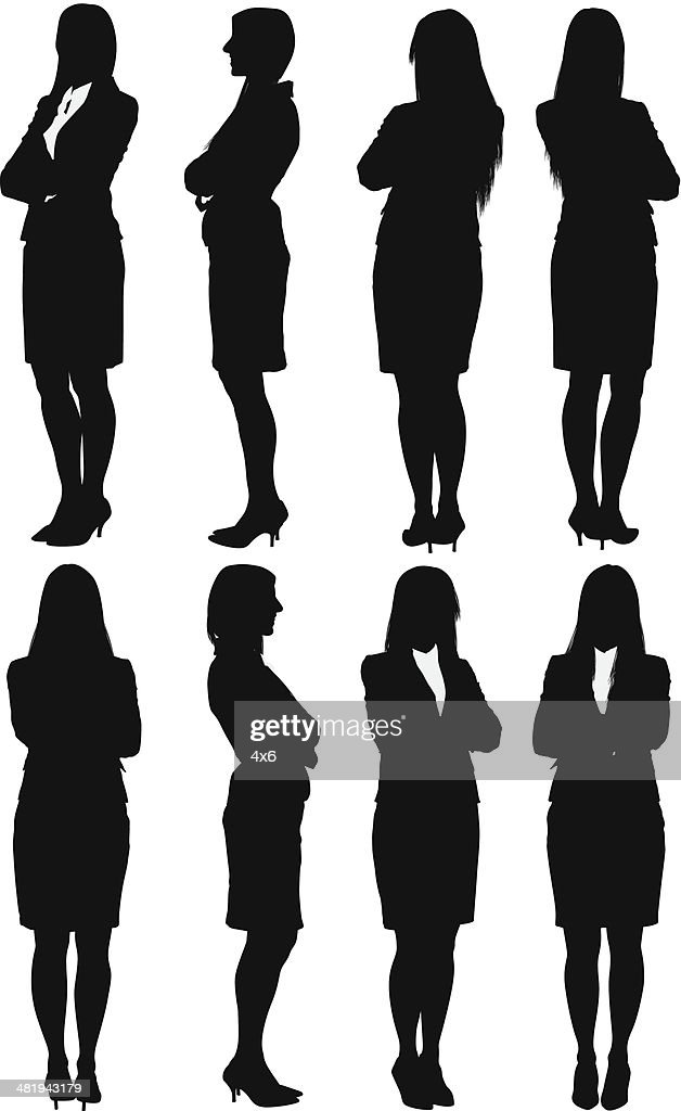 Businesswoman standing with her arms crossed