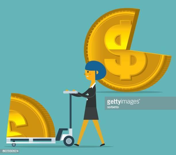 Empresaria le quita parte de moneda con forma circular en carro
