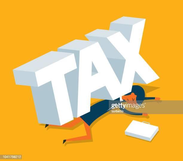 ilustraciones, imágenes clip art, dibujos animados e iconos de stock de impuestos - empresaria - impuestosobrelarenta