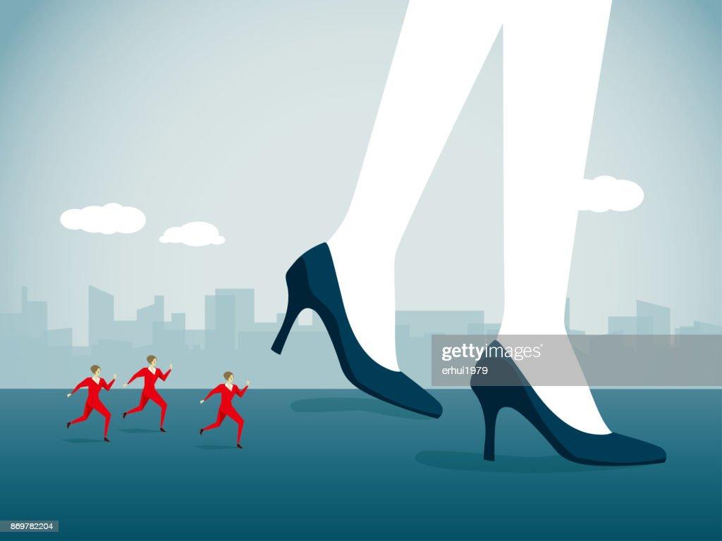 businesswoman : stock illustration