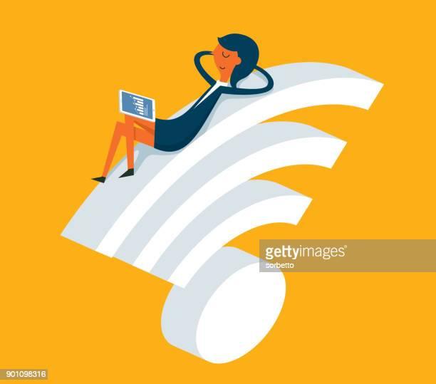 Businesswoman - Wireless Technology
