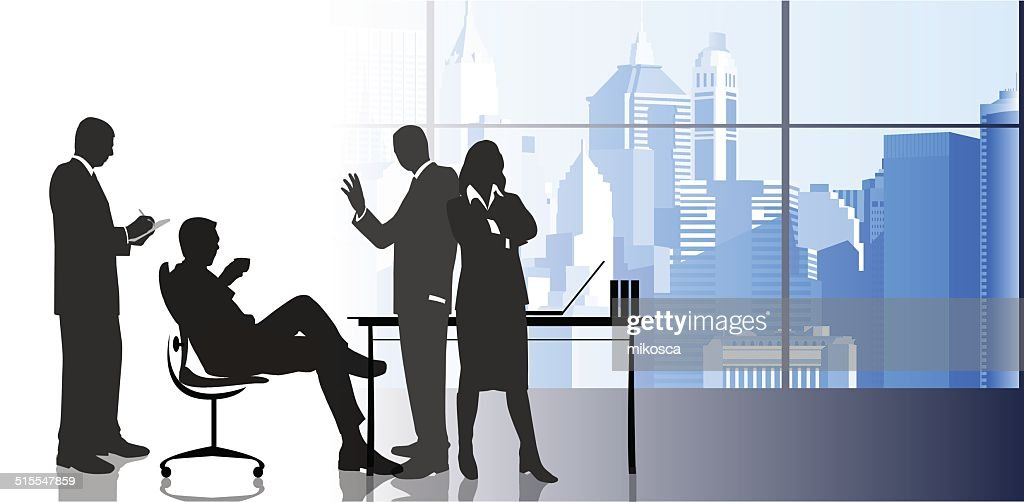 Businesswoman with colleagues in the urban background.