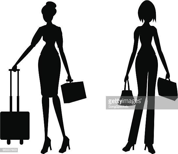 businesswomen シルエット - clip art点のイラスト素材/クリップアート素材/マンガ素材/アイコン素材