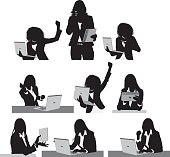 Businesswomen using technology