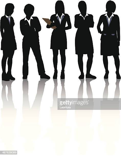 businesswomen - secretary general点のイラスト素材/クリップアート素材/マンガ素材/アイコン素材