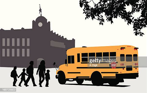 Busing Vector Silhouette