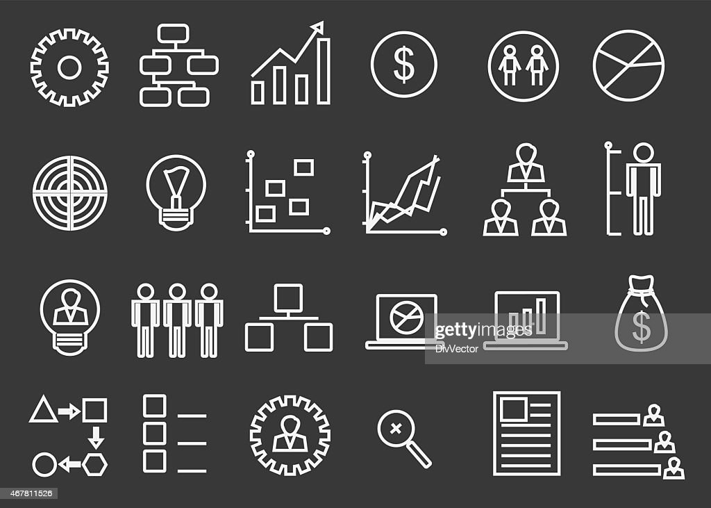 bussiness strategy icon set vector art getty images