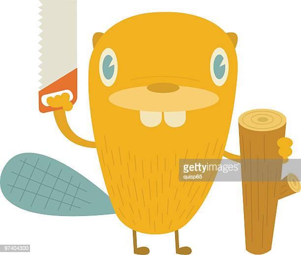 busy beaver - funny beaver stock illustrations