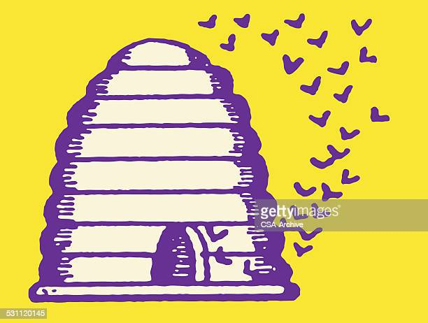 illustrations, cliparts, dessins animés et icônes de longue ruche - ruche