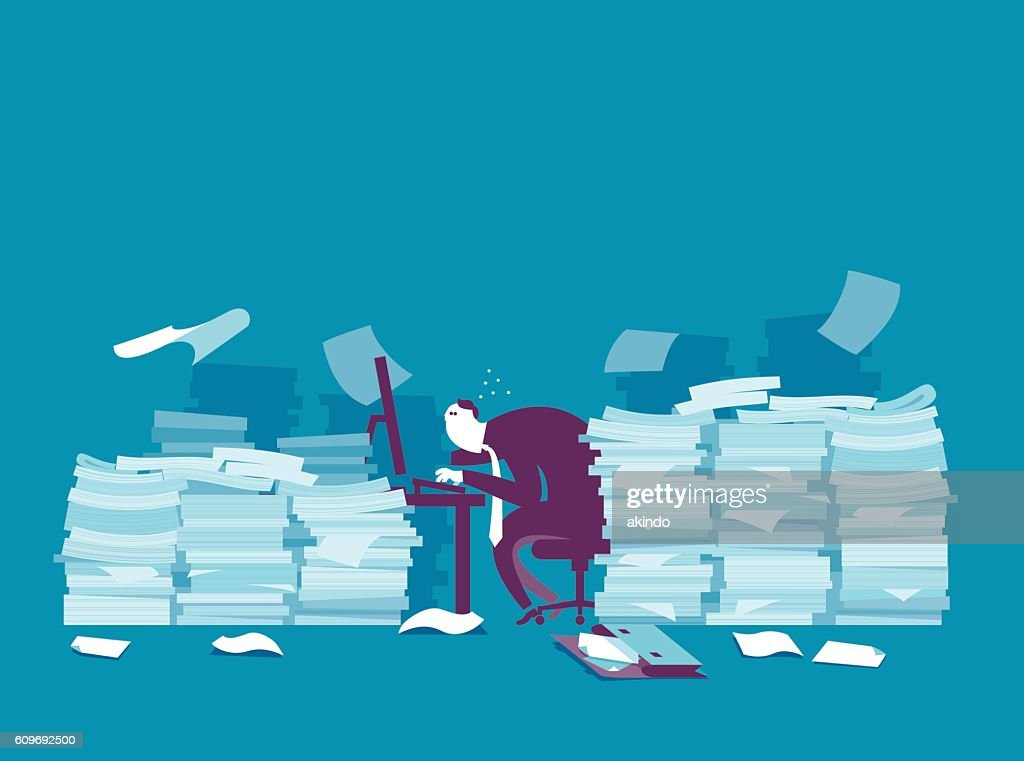Busy businessman : stock illustration