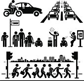 Busy City Life Pictogram