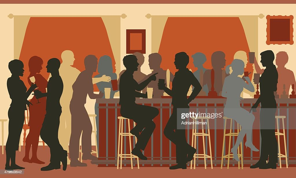 Busy evening bar