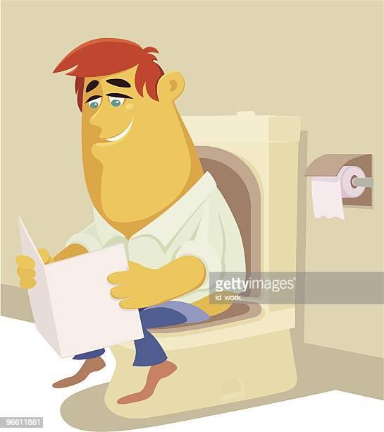 busy man - diarrhea stock illustrations