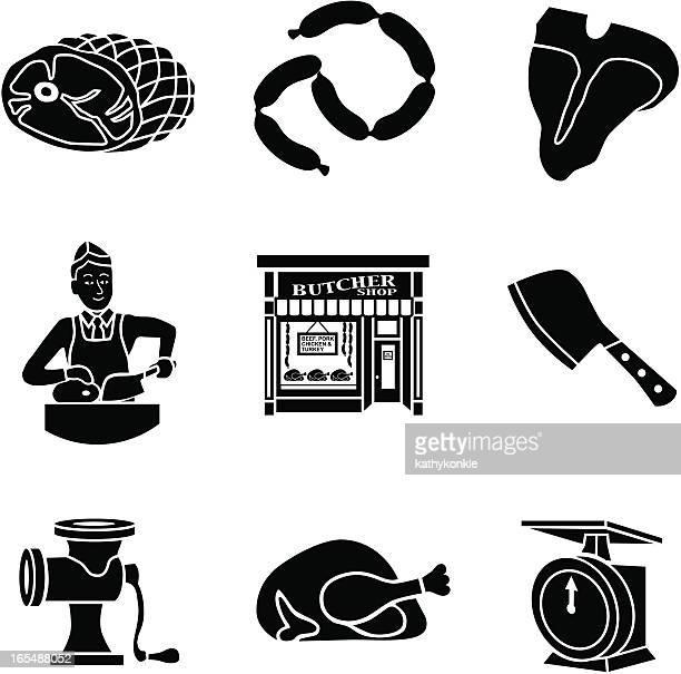 butcher shop icons