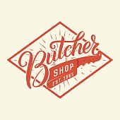 Butcher shop logotype.