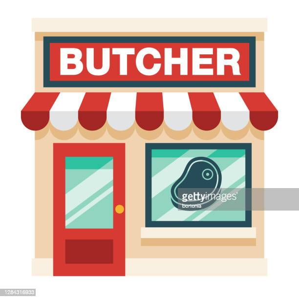 butcher shop on transparent background - ground beef stock illustrations