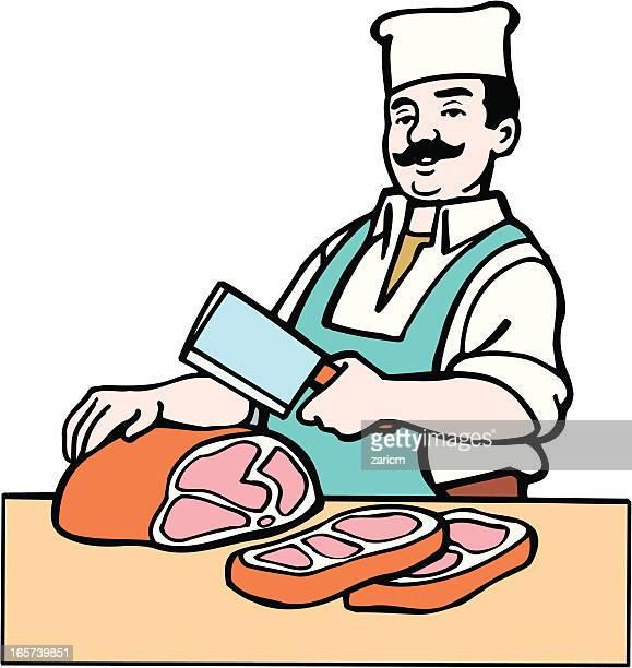 illustrations, cliparts, dessins animés et icônes de boucher - boucherie