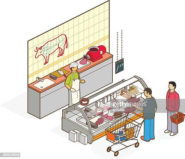 butcher - glazed food stock illustrations, clip art, cartoons, & icons
