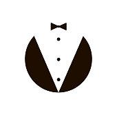 butler gentleman icon. vector
