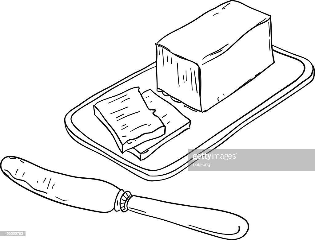 Butter sketch illustration