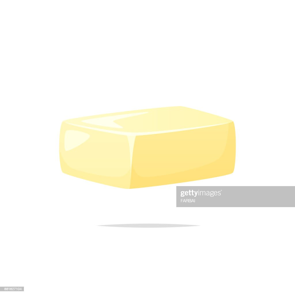 Butter vector isolated illustration