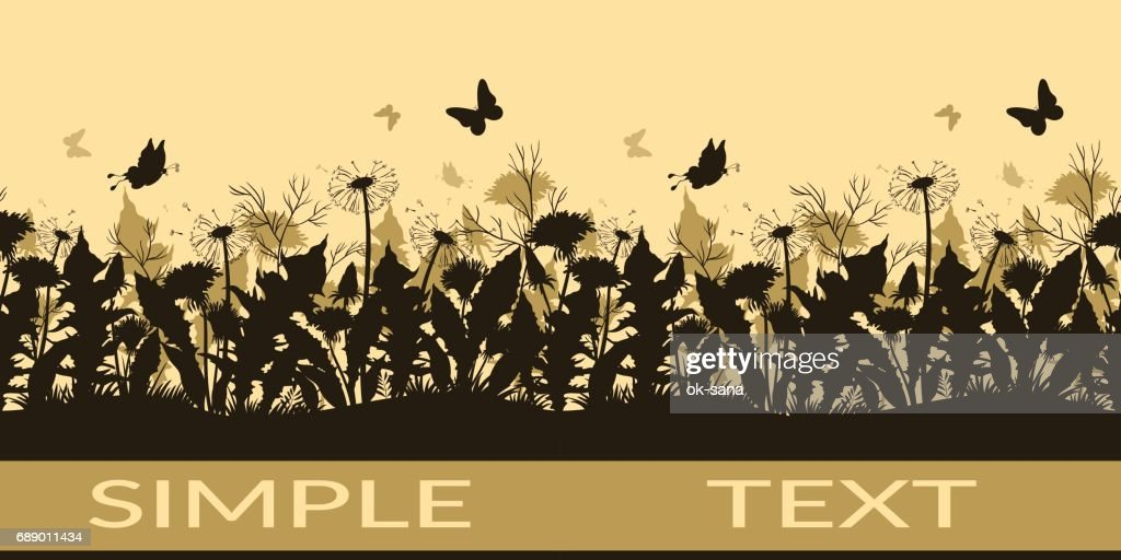 Butterflies and Flowers Silhouettes