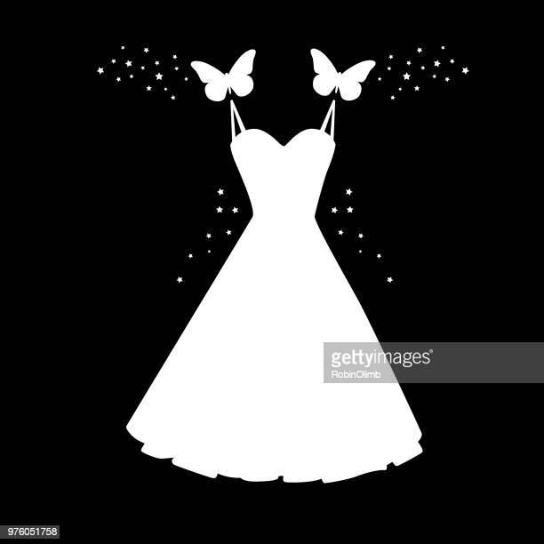 Schmetterlinge tragen Kleid Symbol