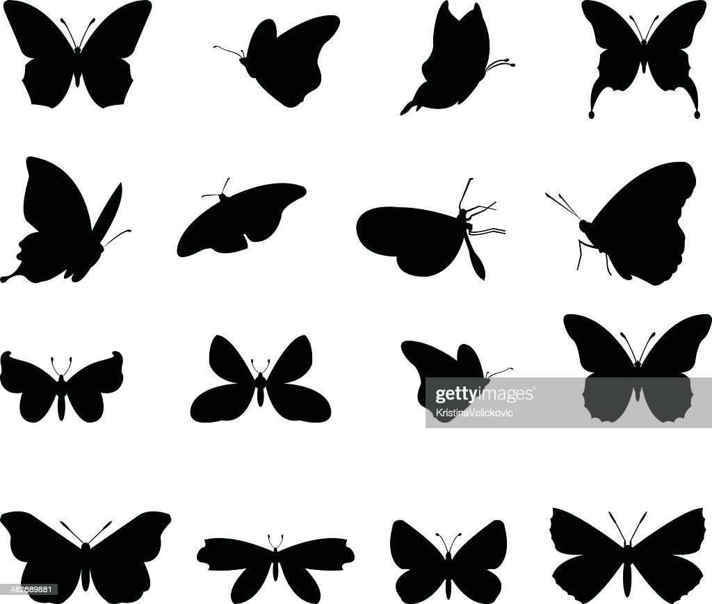 butterflies silhouette