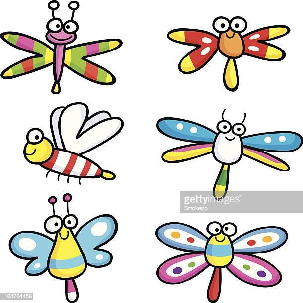 butterflies three - odonata stock illustrations, clip art, cartoons, & icons