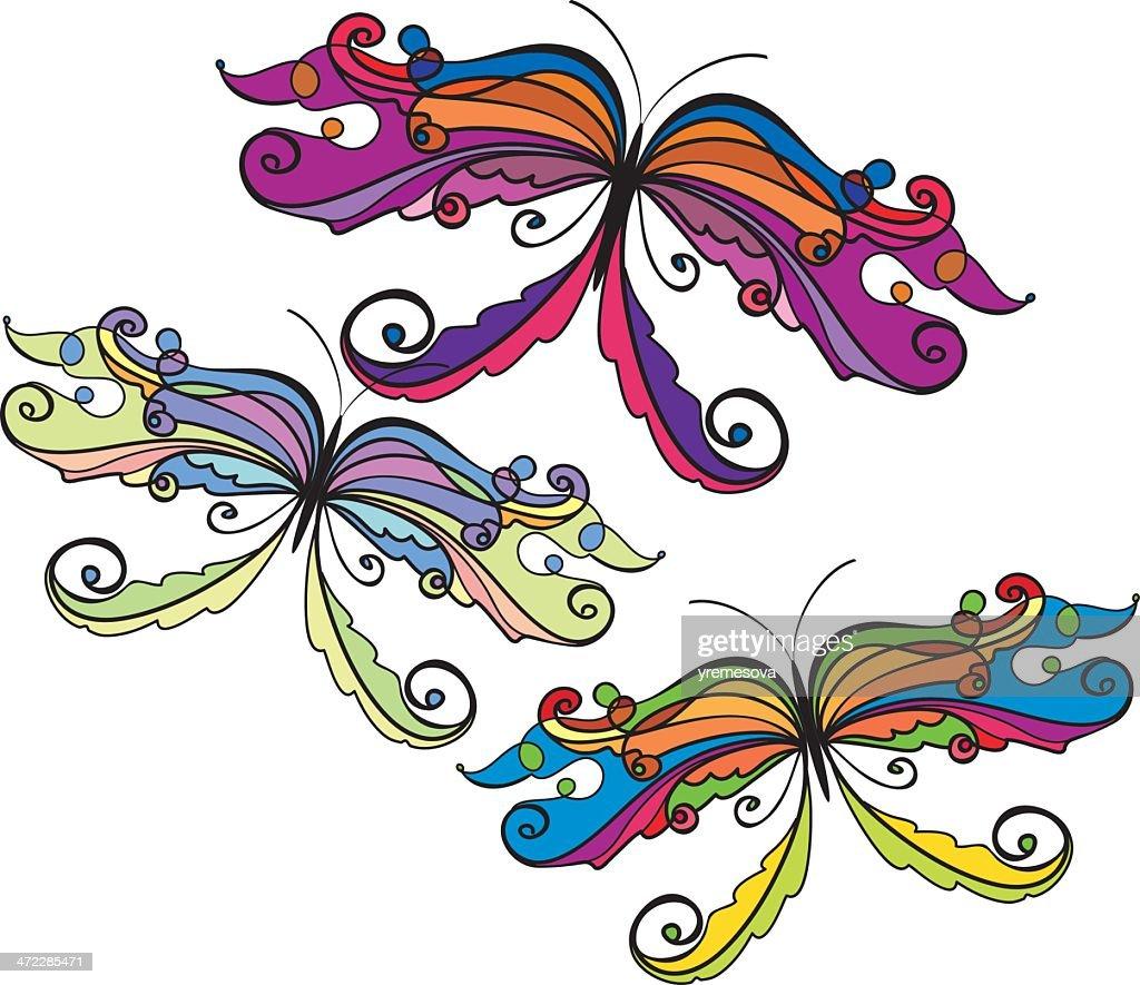 butterflies : stock illustration