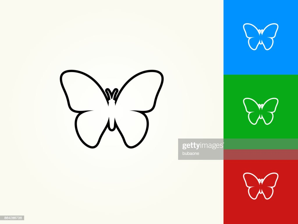 Butterfly black stroke linear icon vector art getty images butterfly black stroke linear icon vector art biocorpaavc Image collections