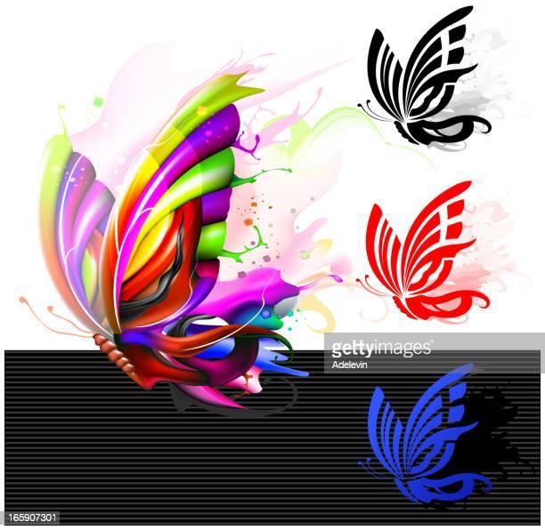 ilustrações, clipart, desenhos animados e ícones de logotipo do conceito de borboleta - borboleta