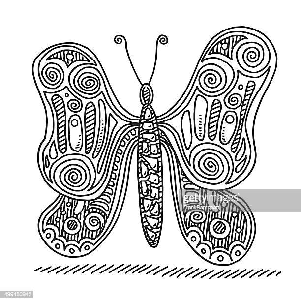 Butterfly Doodle Drawing
