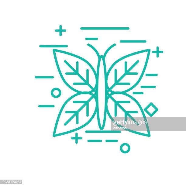 Butterfly Environment Thin Line Icon