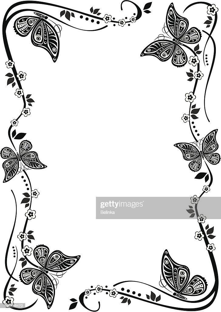 Butterfly Frame Vector Art | Getty Images