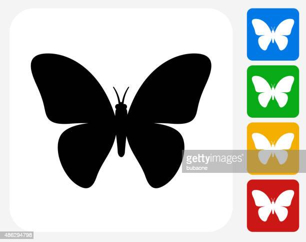 ilustrações, clipart, desenhos animados e ícones de ícone de borboleta tv design gráfico - borboleta