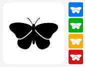 Butterfly Icon Flat Graphic Design