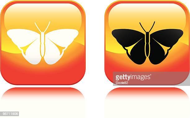 butterfly icon - animal limb stock illustrations, clip art, cartoons, & icons