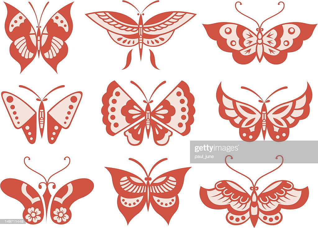 butterfly illustration collection