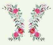 butterfly roses long dress