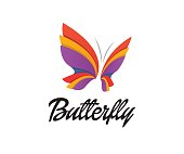 Butterfly vector icon