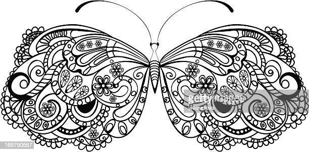 butterfly - animal limb stock illustrations, clip art, cartoons, & icons